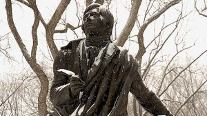 This statue of Robbie Burns is in New York's Central Park. (cbc.ca/books)