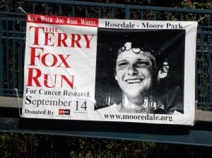 Terry Fox Run 2014 - Mooredale Poster
